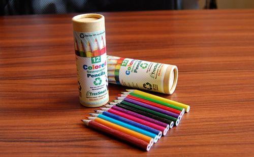 【レビュー】英字新聞を巻いたTreeSmartのリサイクル色鉛筆で、たまに絵でも書いてみたら気分が良くなる感じです