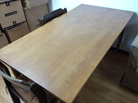 私のテーブルには、なんにもない